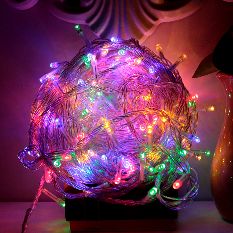 LED Decoration Colorful Lights String Outdoor Holiday Stars String Lights 10 M 100 M Christmas Tree Colorful Lights Article Whol