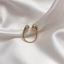 Novo ashion temperamento contratada geométrica abertura anel jane vento restaurar antigas formas feminino liga anel jóias acessórios