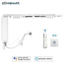 Motor eléctrico Zemismart con riel compatible con Alexa y Google Home y controlable con Tuya y por RF 433Mhz