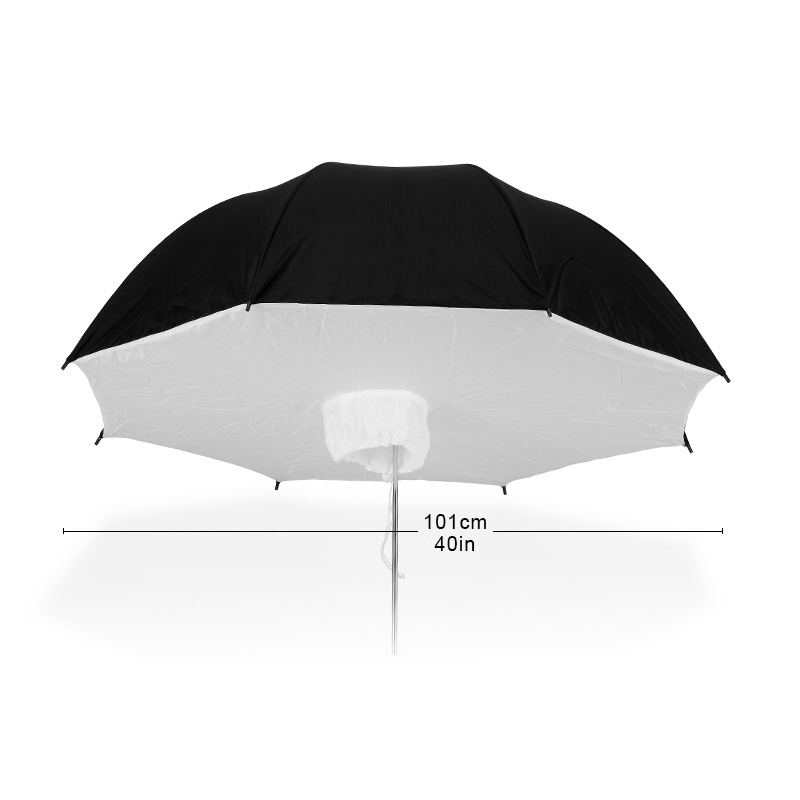 Selens Lightweight 101cm Photography Flash Translucent Soft Lambency Umbrella Silver Black Nylon Material Aluminum Shaft