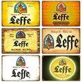 Leffe Ретро металлический знак жестяная вывеска виски пиво Бельгии доска металлический декор для стен в винтажном стиле декор плакат пластин...