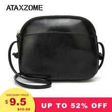 ATAXZOME New PU Leather Small Crossbody Bags Women Shoulder Handbags Ladies Black Messenger Luxury Bags Designer Mini Shell Bag