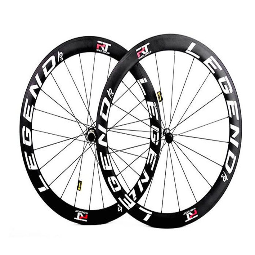 <font><b>RT</b></font> C38 C50 Road Bike Bicycle Racing Competition Wheels Full Carbon Fiber CNC Hub Six Claws <font><b>Wheelset</b></font> Rim image