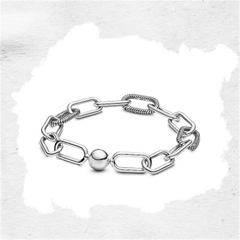 TIF <font><b>PAN</b></font> 2019 new DIY <font><b>bracelet</b></font>, fashionable 100% silver <font><b>925</b></font> charm original ladies jewelry gift, accessories need to be purchased image