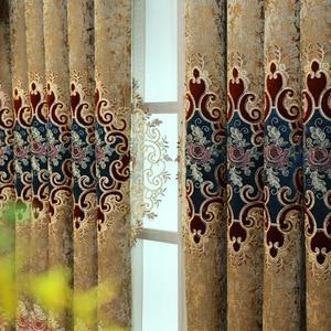 Image 3 - Европейский стиль, высококлассная вышитая шенилла, ретро палатка, крученая золотая вышивка для гостиной, балдахинов, дополнительная покупка