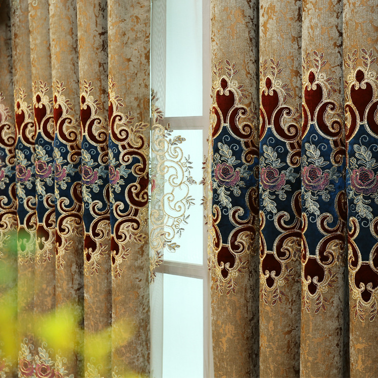 Image 3 - European style Upmarket chenille embroidered Pelmet Retro court  spun gold embroidery living room,valance,Additional purchaseCurtains