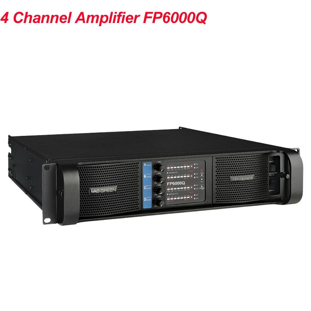 2020 Lab Gruppen professionnel populaire haute Performance FP6000Q ligne interrupteur amplificateur 4x700Watts 4 canaux PA haut-parleurs