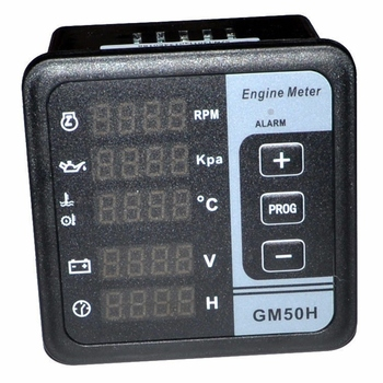Hot Gm50H Engine Digital Display Multifunction Voltage Frequency Water Temperature Oil Pressure Tachometer Generator Control