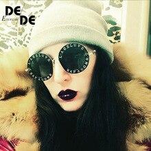 Selling Fashion Female Round English Letters Sunglasses Transparent Frame Tint Lens Sunglasses Trending Circle Sunglasses uv400 цена