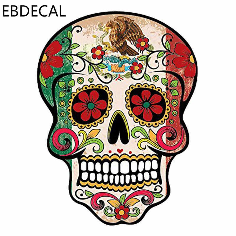 Ebdeckle мексиканский сахар SKULLFor Авто/бампер/окно/наклейка на стену стикеры наклейки DIY Декор CT5797