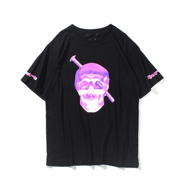 VLONE Skull head Screw Ninja Purple Shirt 1