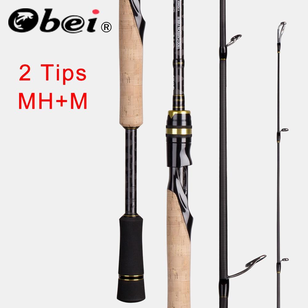 Obei Casting Spinning Fishing Rod 2.1 2.4m M/MH Travel Street Bait 2tips Fast Rod Vara De Pesca 13-39g Fishing Rod