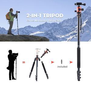 Image 3 - ZAYEX trípode profesional para cámara de viaje, monopié de aluminio ligero y portátil para cámara digital SONY Canon DSLR