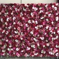 TONGFENG Rosa 8 unids/lote Fleurs di apuzzo Salvatore de seda Rosa peonía 3D flor Panel de pared corredor fiesta boda decoración