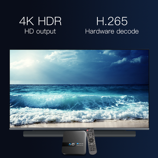 New H20 TV Box Android 10 2GB 16GB 4K TV receiver Media player 3D Video 2.4G Wifi H20 Smart TV BOX Android Set top box 4