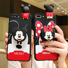Minnie Mickey Ring Phone Strap Rope Case For Xiaomi