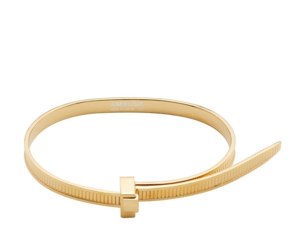 AMBUSH хип хоп простой личности 925 Серебряный легко затягивающийся браслет регулируемые персональные подарки Панк ювелирные изделия для женщин и мужчин - 6