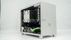 Все алюминиевые HTPC ITX маленький корпус игровой чехол для компьютера поддержка видеокарты RTX2070 i7 8700 PK77 K77