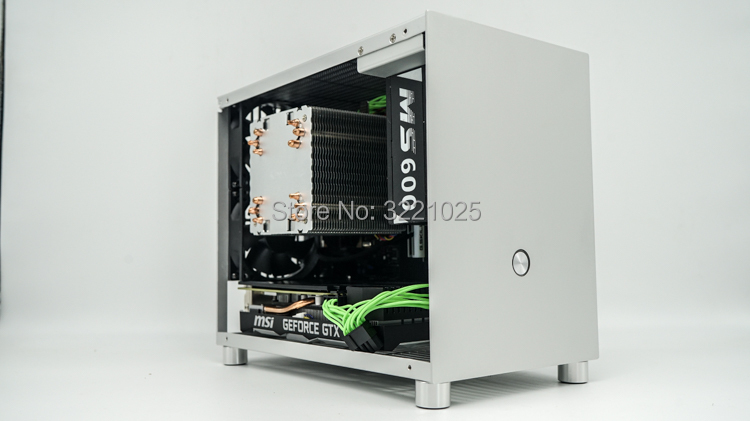 All Aluminum HTPC ITX Small Chassis Game Computer Case Support Graphics Card RTX2070 I7 8700 PK77 K77