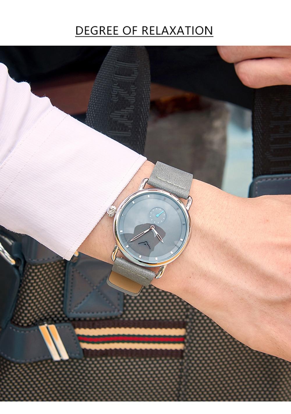 H4365b3d9658343388e2408f60c656788j ONOLA top brand leather men watches clock fashion sport simple casual waterproof Wrist watch men relogio masculino