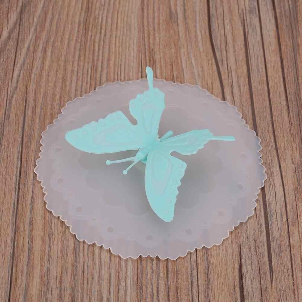 Inhaleren Vlinder Siliconen Koffie Mok Keramische Cup Deksel Luchtdichte Afdichting Cup Cover