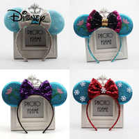 Disney Frozen Headband Child Girl Hair Accessories Elsa Anna Headwear Performance Mickey Ears Party Decoration Christmas Gifts
