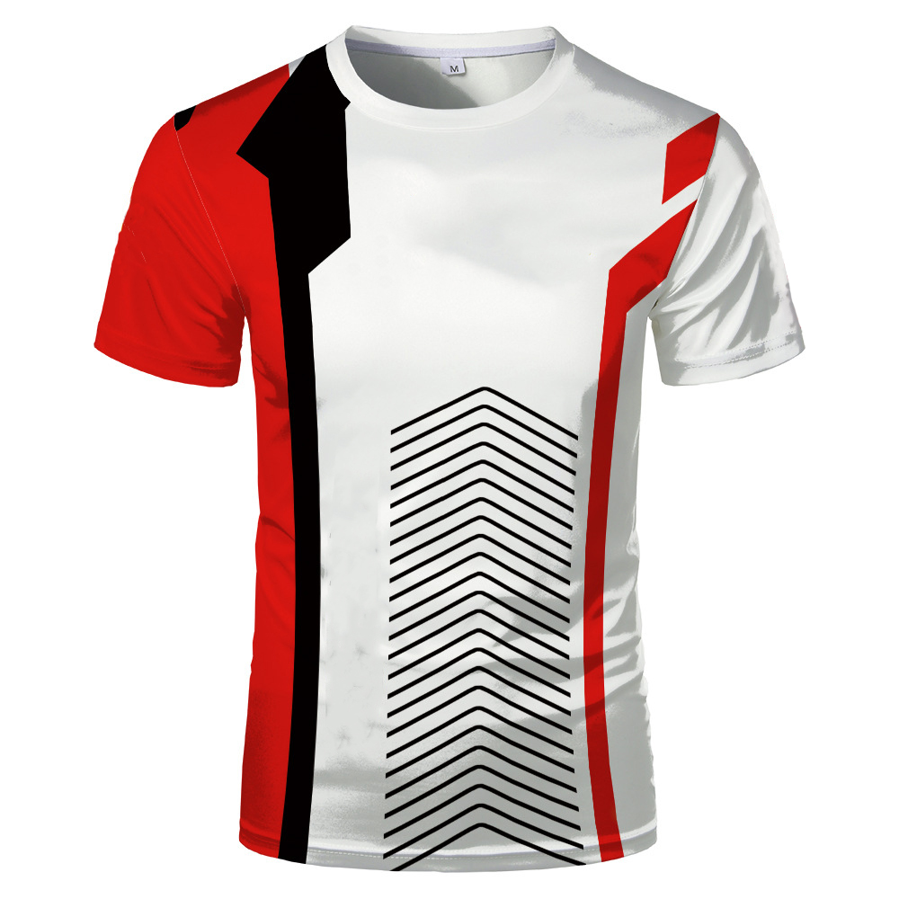 Best selling new fashion personality creative 3D printing T-shirt tops men and women universal couple comfortable short sleeves