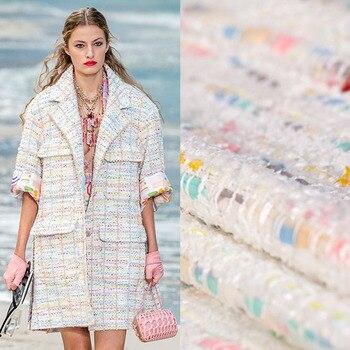 Tela de tweed de colores para abrigo, pantalones cortos, falda, telas para...