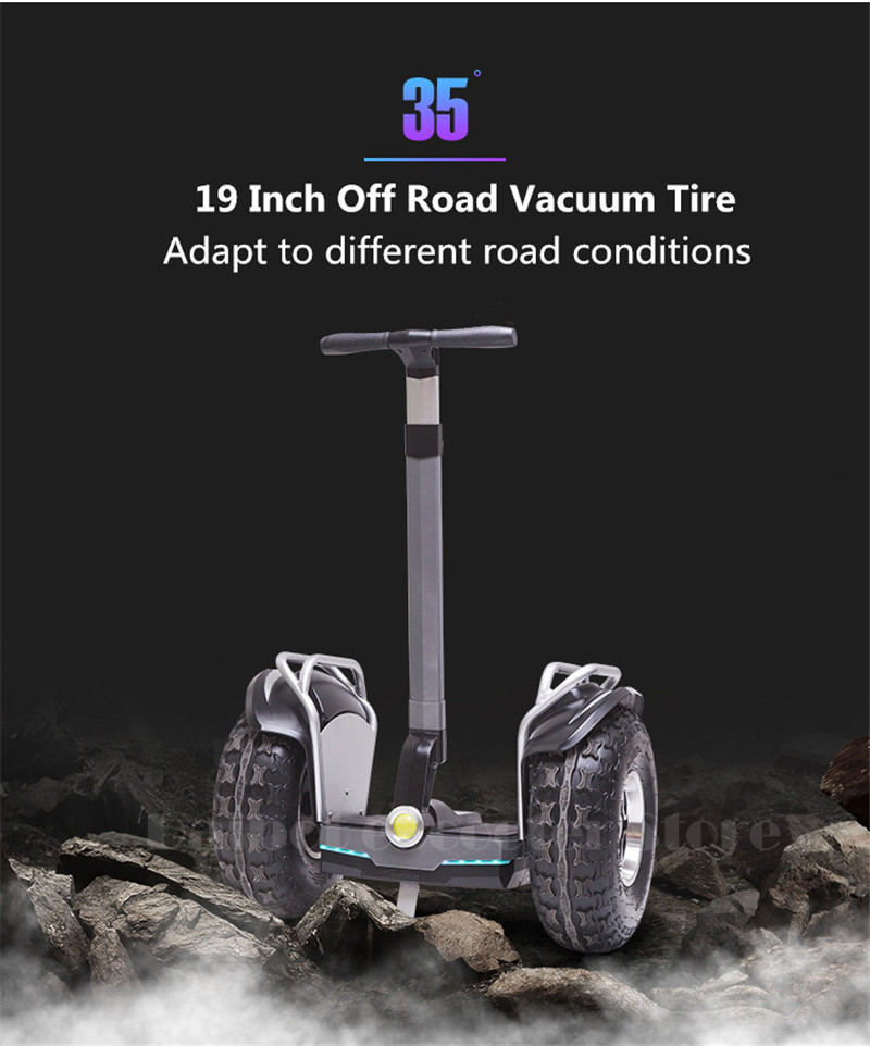19 inch big tire hoverboard 2 wheels scooter High Power Electric self balancing scooter adjustable hover board skateboard (1)