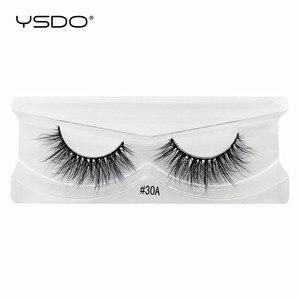 Image 4 - 10 paires de cils de vison en gros maquillage doux réel 3d cils de vison en vrac naturel faux cils moelleux croix cils extension