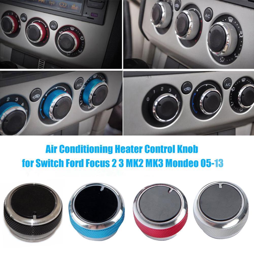 3Pcs Auto Airconditioning Heater Draaiknop Schakelaar Cover Airconditioning Knop Schakelaar Airconditioning Knop Voor Ford Focus 2