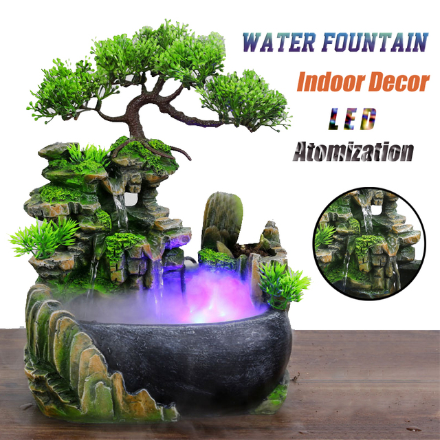 Resin Crafts Tabletop Feng Shui Decor Rockery Landscape Water Fountains Home Decoration Indoor Fountain Zen Garden 1