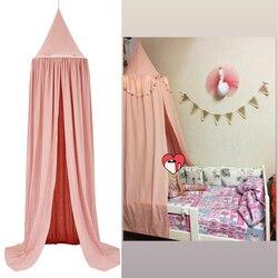 Детская кровать KAMIMI, детская комната занавеса, украшения для кроватки, сеточки, палатка, моющаяся хлопковая ткань, подвесная купольная детс...