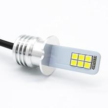2x H3 Led Fog Lamp Bulb Auto Car Motor Truck 12w 12V 24V White LED Light high power Bulbs Driving Running DRL