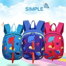 Cartoon School Bags For Boys Animal Kids Backpack Child Dinosaur Book bag Kids Shoulder Bag Satchel Knapsack цена