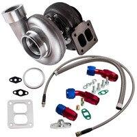 GT45 V Band T4 Flange Turbocharger 600+HP + Oil Drain Feed & Return Line kits Turbine Turbolader External Wastegate
