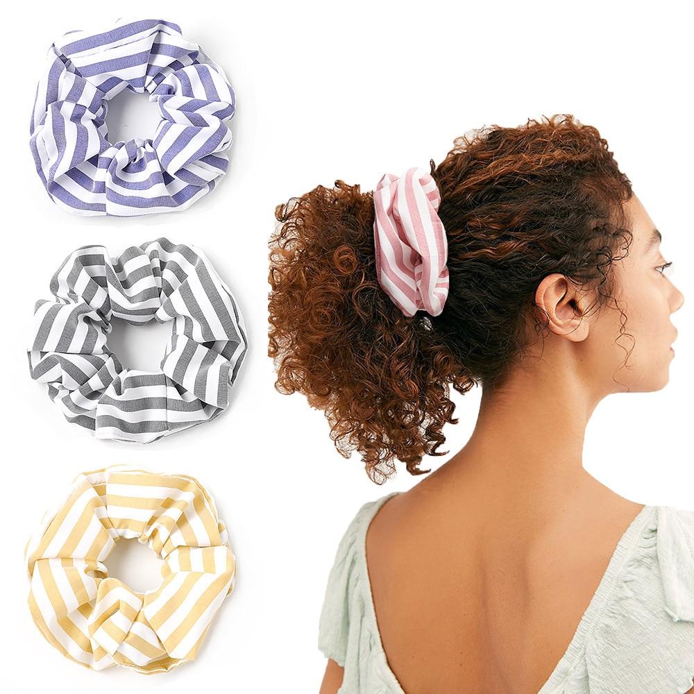 2020 Korean Vsco Scrunchie Ponytail Holder For Girls Hair Tie Hair Rope Scrunchy Headwear Women Hair Accessories