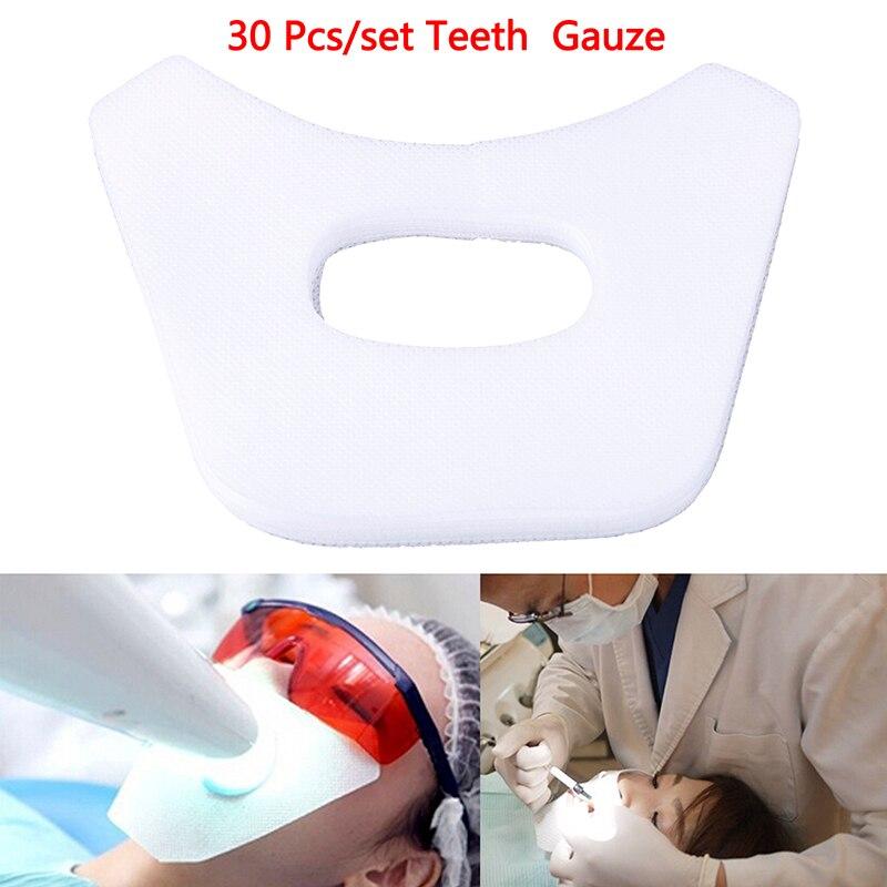 30Pcs Teeth Whitening Face Gauze Dental Facial Mask Mouth Mask Tooth Whitening(China)