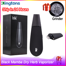 Original Kingtons Black Mamba Dry Herb Vaporizer 1600mah Battery Herbal Vape Pen Electronic Cigarette Kit Herbal Vaporizer Vape