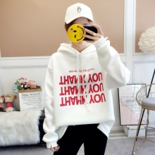 Milinsus 2019 Autumn Plus size hoodies sweatshirts Women Printed Letter Long sleeve harajuku korean Hooded Pullover Kpop Clothes