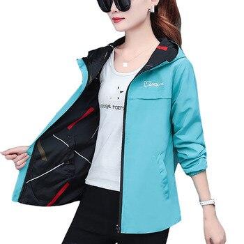 2020 printemps automne femmes veste mode à capuche deux côtés usure dessin animé impression Outwear femmes manteau ample femme coupe-vent hauts P369 1