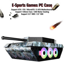 Pc-Case Computer Gaming-Chassis Microatx/e-Atx Tempered-Glass-Support Water-Cooling 120mm