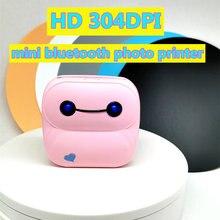 Мини принтер для фотографий 304 точек/дюйм bluetooth 58 мм