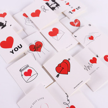 New Products Korean Style Bronze Bouquet Cards Confession Message Heart Square dui zhe ka-Piece Creative Blessing Flower Gift creative new style blessing xuyuan heart shape small card message birthday gift diy heart shaped