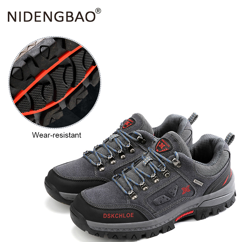 High Quality Men Hiking Shoes Spring Autumn Lace-up Waterproof Climbing Athletic Shoes Outdoor Men Sport Trekking Mountain Shoes