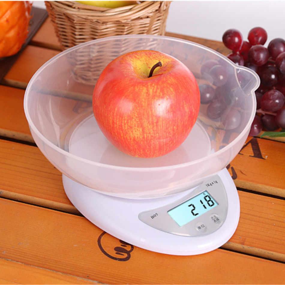 Tragbare Digitale Küche Waagen 5kg 1g LED Elektronische Lebensmittel Waagen Gewicht Waagen Balance Mess кухонные весы