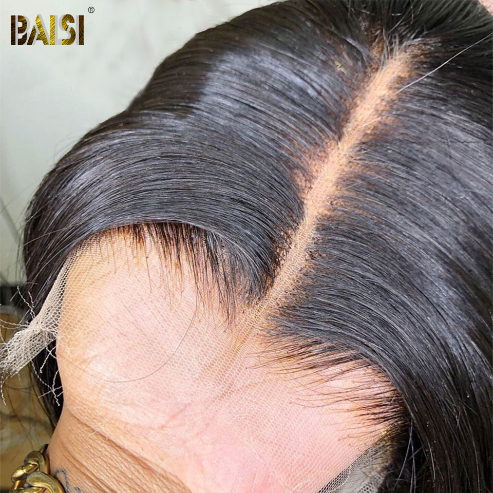 BAISI Brazilian Invisible 13x4 HD Lace Frontal Closure Straight HD Transparent Swiss Lace Frontal Body Wave Human Hair Frontal