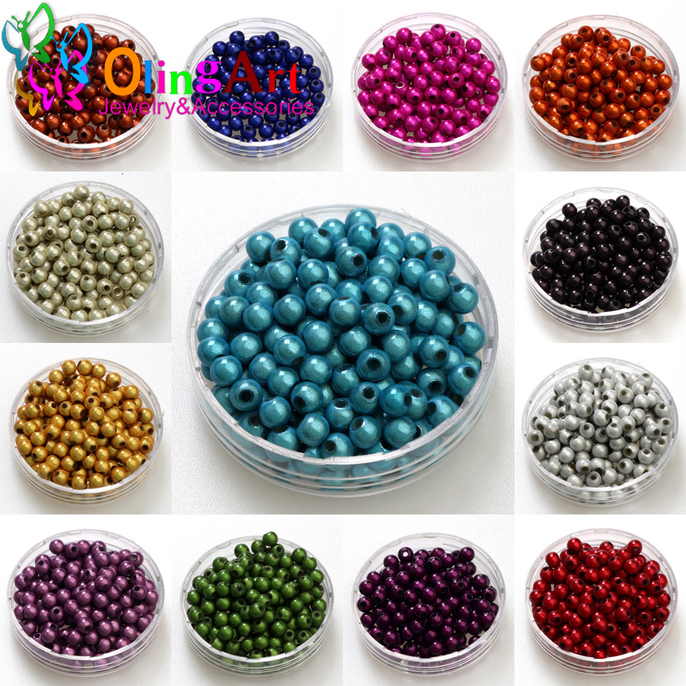 Free shipping 4/6/8/10mm Mixed Color 3D Illusion Miracle beads Acrylic Spacer bead Fantasy DIY Necklace Bracelet jewelry making(China)