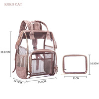 Bags for Women 2019 Transparent PVC Backpack Set Clear Backpacks Women High Quality School Bag for Teenage Girl Mochila Mujer