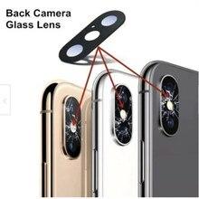 Para o iPhone Da Apple X XS Max XR 8 7 7P 6 6s S Plus 6P 6 Substituição Do Vidro Traseiro voltar Camera Lens Parte e 3 Adesiva 3m